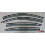 Honda Accord 9 ветровики дефлекторы окон ASP с молдингом нержавеющей стали / sunvisors - 2014