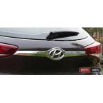 Hyundai Tucson TL 2015 накладка хром на заднюю дверь граненная - 2015
