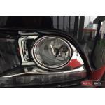 Toyota Highlander XU50 2014 накладка хром на противотуманные фары малая - 2014