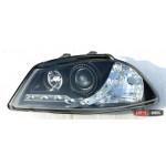 Seat Ibiza оптика передняя черная - 2002