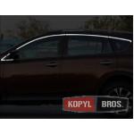 Toyota RAV4 Mk4 2016+ хром молдинги окон верхние - 2016