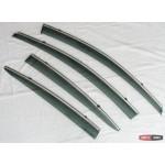 Kia Cerato K3 2012+ ветровики дефлекторы окон ASP с молдингом нержавеющей стали / sunvisors - 2012