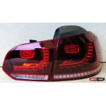 Volkswagen Golf 6 оптика задняя LED R20 красная с бегущим указателем поворотов - 2009