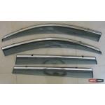 Toyota RAV 4 Mk3 2009+ ветровики дефлекторы окон ASP с молдингом нержавеющей стали / sunvisors
