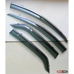 Ford Ecosport ветровики дефлекторы окон ASP с молдингом нержавеющей стали / sunvisors
