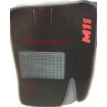 Коврики текстильные CHERY M11 с 2008 черные в салон