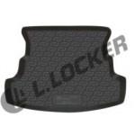 Коврик в багажник Fiat Albea (02-) полиуретан (резиновые) L.Locker