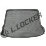 Коврик в багажник Renault Logan MCV универсал (08-) полиуретан (резиновые) L.Locker