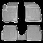 Коврики Chevrolet Epica (06-) полиуретан (резиновые) серые L.Locker