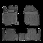 Коврики Toyota Yaris (05-) полиуретан (резиновые) L.Locker