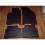 Резиновые коврики CHEVROLET LACETTI 2004 черные NUBIRA 4 шт - Petex