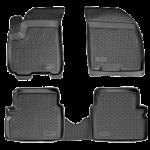 Коврики в салон Chevrolet Aveo (03-) полиуретан (резиновые) комплект Lada Locker