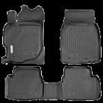 Коврики в салон Mazda 2 хетчбек (08-) полиуретан (резиновые) комплект Lada Locker