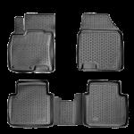 Коврики в салон Nissan Qashgai+2 (08-) полиуретан (резиновые) комплект Lada Locker