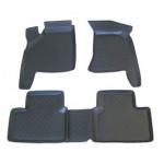Коврики в салон ВАЗ 2110-12 серые полиуретан (резиновые) комплект Lada Locker