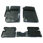 Коврики в салон Kia Rio II седан (09-) полиуретан (резиновые) комплект Lada Locker