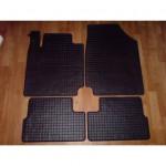 Резиновые коврики NISSAN MICRA 2010 черные 4 шт - Petex