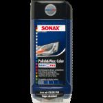 Полироль с воском цветной, синий Sonax NanoPro