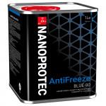 Синий антифриз Nanoprotec Antifreeze Blue-80. Купить антифриз синий Нанопротек.