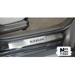 Накладки на пороги Ravon R4 2017- 4 шт на метал Premium NataNiko
