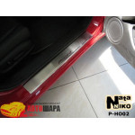 Накладки на пороги HONDA ACCORD VIII 2008- Premium NataNiko