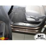 Накладки на внутренние пороги Volkswagen CADDY III/IV_TOURAN II 2004- Premium NataNiko
