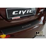 Накладки на бампер с загибом  HONDA CIVIC IX 4D FL 2013- Premium NataNiko