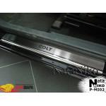 Накладки на пороги MITSUBISHI COLT VI/VII 3D 2004-2008/2009- Premium NataNiko