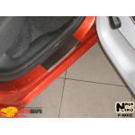 Накладки на пороги SKODA FABIA II 2007-2014 Premium NataNiko