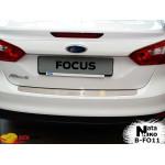 Накладки на бампер FORD FOCUS III 4D 2011- Premium NataNiko