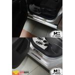 Накладки на пороги Volkswagen GOLF SPORTSVAN 2014- Premium NataNiko