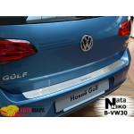 Накладки на бампер Volkswagen GOLF VII 2012- NataNiko