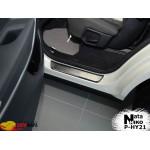 Накладки на пороги HYUNDAI GRAND SANTA FE III 2013- Premium NataNiko