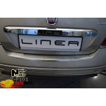 Накладки на бампер с загибом  FIAT LINEA FL 2012- Premium NataNiko