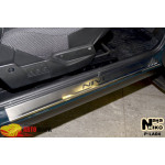 Накладки на пороги LADA NIVA 2000- на металл Premium NataNiko