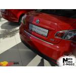 Накладки на бампер с загибом  MG 6 4D 2012- Premium NataNiko