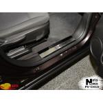 Накладки на внутренние пороги CHEVROLET ORLANDO 2011- Premium NataNiko