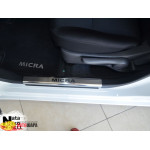 Накладки на внутренние пороги NISSAN MICRA IV 5D 2010- Premium NataNiko