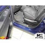 Накладки на внутренние пороги FIAT QUBO 2008- Premium NataNiko