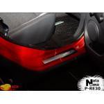 Накладки на пороги RENAULT SANDERO II 2012- Premium NataNiko