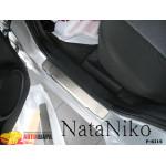 Накладки на пороги KIA SPORTAGE II 2004- Premium NataNiko