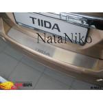Накладки на бампер NISSAN TIIDA 5D 2007- Premium NataNiko