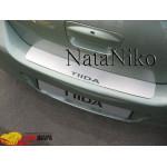 Накладки на бампер NISSAN TIIDA 4D 2007- Premium NataNiko