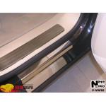 Накладки на пороги Volkswagen TOUAREG 2002-2009 Premium NataNiko