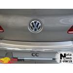 Накладки на бампер з загином Volkswagen PASSAT CC 2008- NataNiko