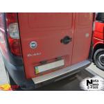 Накладки на бампер с загибом  FIAT DOBLO I 2005- Premium NataNiko