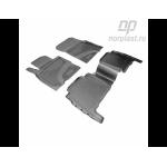 Коврики Toyota LC-200 (07-) резиновые черные Norplast