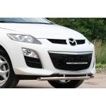 Защита переднего бампера Mazda CX-7 2010 d 60/42 двойная - Novline
