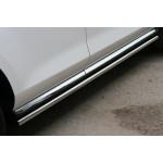 Пороги Mazda CX-7 2010 труба d 42 (компл 2шт) - Novline