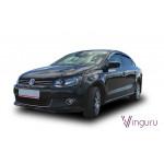 Дефлекторы окон Volkswagen Polo 2010- седан накладные скотч к-т 4 шт. - Novline